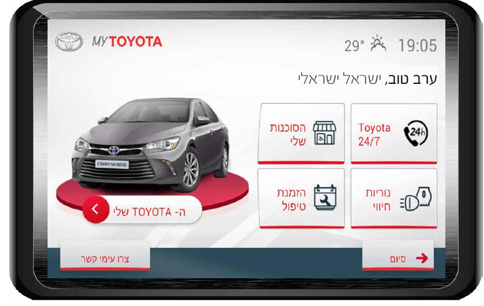 מדהים טויוטה ישראל משיקה מערכת מולטימדיה חכמה TW-98